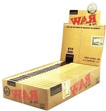 War on Hate by Raw 1 1/4 Cigarette Rolling Papers Full Box Profits go to Charity
