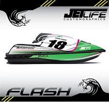 Custom Jet Ski Decal kit Kawasaki SX R 2017 2018 Flash style stickers graphics