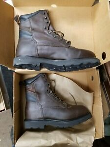 RED WING Shoes Model 964 -2 Dark Brown USA Made Leather Work Boots 11 1/2 D NIB