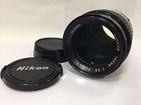 [N Mint] Nikon Nikkor 105mm f/2.5 Ai-s Ais MF SLR 35mm Film Camera from Japan