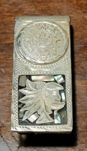 Alpaca Mexico Silver Money Clip Mayan Calendar