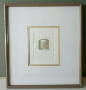STEPHEN WHITTLE - ORIGINAL PENCIL SIGNED EMBOSSED MINIATURE ETCHING