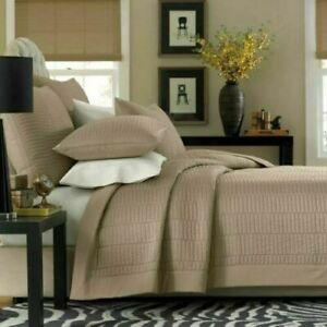 Real Simple Twin Reversible Coverlet 100% Cotton Dune in Color New OOO 747