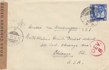 DUTCH EAST INDIES :1940 Censored cover to USA- Economic +Military Censors
