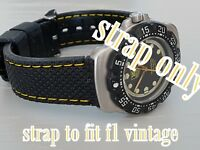 QUALITY RUBBER 18MM YELLOW STRAP BAND FOR TAG F1 FORMULA ONE   380.513/1 376.513