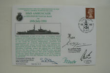 HOCKADAY COVER SERIES 1 No 10 HMS AMBUSCADE - SIGNED BY 5