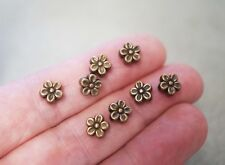 100 x Coppertone Metal Spacer Beads AA146CT Flower