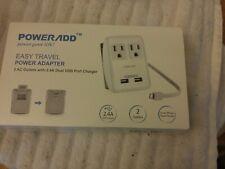 New Poweradd Easy Travel Power Adapter Uk/Us/Au/Eu/Jp Wall Plugs
