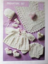 Knitting Pattern For Baby's Premature Set 9-12inch ( 25-31cm ) 4ply See Details