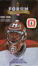 1995 MONTREAL CANADIENS HOCKEY POCKET SCHEDULE - FRENCH AND ENGLISH PATRICK ROY
