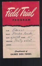Gaines Dog Food Field Trial Program booklet 1948 General Foods