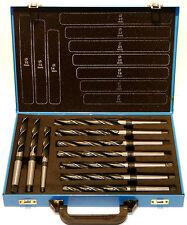 Spiralbohrer 10 tlg. HSS Konus-Bohrer 14-23mm, Morsekegel MK1, MK2, DIN345