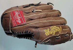 """Rawlings Renegade Baseball Basket Web Leather thrower Glove RS115, REG, LH 11.5"""""""