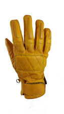 Torc Silver Lake Gold Leather Mid Length Classic Retro Motorcycle Gloves Small