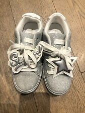 Kurt Geiger Selfridges Silver Glitter Sneakers Trainers Super Star Shoes 12 £145