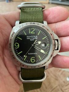 Parnis Marina Militare GMT Automatik mit zweiten Armband und Uhrenbeweger top!!!