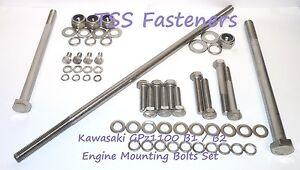 Kawasaki GPz1100/GPz 1100 A1/A2/A2 L/Unitrac - Engine Mounting Bolts Set - S/S