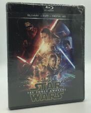 Star Wars: The Force Awakens (Blu-ray+DVD+Digital HD, 2016) NEW
