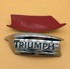 Tank Badge Emblem Decals L/R for Triumph T100 T120 T140 Bonneville Thruxton 900