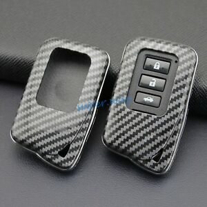 ABS Carbon Fiber Car Smart Key Cases Cover Holder For Lexus IS ES NX RX GS LX RC