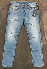 TRUE RELIGION JEANS $229 MENS ROCCO DISTRESSED SKINNY IN DOWN ROCK SZ 28