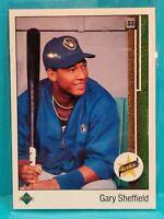 1989 Upper Deck Baseball Gary Sheffield Rookie Card #13 Milwaukee Brewers NM/Mt