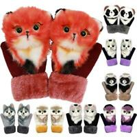 Full Fingers Gloves Thickening Cartoon Simulation Animal Soft Warm Mittens Xma s