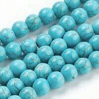Turquoise Beads 6mm Beads Approx 63 Pieces 1 Strand Gemstone