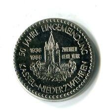 Medaille Kassel Niederzwehren 50 Jahre Eingemeindung Kreissparkasse M_343