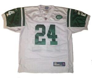 Darrelle Revis New York Jets 24 Reebok NFL Football Jersey On Field Size 48 Vtg