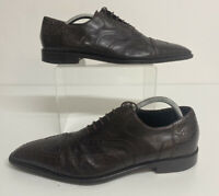 cesare paciotti Brown Leather Shoes Size 41.5 Uk 7.5 Mens Lace Up Brogues