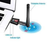 AC600 Mbps Dual Band 5.8Ghz Wireless USB WiFi Network Adapter w/Antenna 802.11