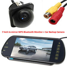 "US-7"" MP5 Bluetooth Car Rearview Mirror Monitor+Night Vision Auto Reverse Camera"