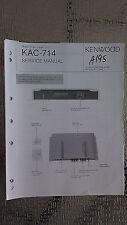 kenwood kac-714 service manual original repair book mono car amp amplifier