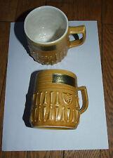 2 anciens mug tasses ceramique BP deco vintage des 70's neufs
