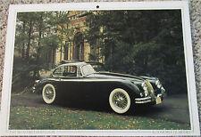 1961 Jaguar XK150 Fixed Head Coupe car print (black)