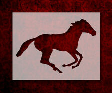 """Running Horse 8.5"""" x 11"""" Stencil FAST FREE SHIPPING (551)"""