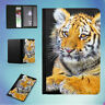 NATURE ANIMAL CUTE BIG TIGER FLIP PASSPORT COVER WALLET ORGANIZER