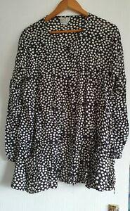 Black White Blouse XL Masai Clothing Company