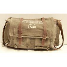 Canvas and Leather Unisex Plantes Satchel Bag