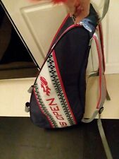 New Wilson Us Open Tennis bag/ Backpack double Navy Red zip pocket