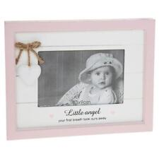 Vintage Shabby Chic Baby Girl Pink Photo Frame Gift With Heart 56880