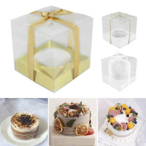 12Pcs Single Cupcake Boxes With Clear Window for Wedding Birthday Cup Cake Box