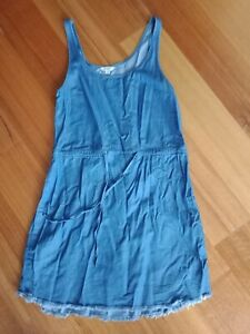 Elwood Apparel Ladies Size 8 Lyocell Lightweight Denim Look Sleeveless Dress