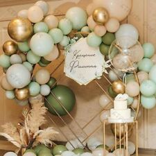 Latex Oval Shape Balloons Garland Kit Macaron Color Party Decorations 125pcs Set