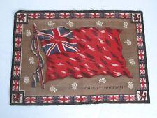 "1 Large Antique Cigarette Tobacco Flannel Felt Flag Great Britain 8 3/4"" X 12"""