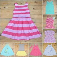 Girls Cotton Party Everyday Dress Frock Age 2 3 4 5 6 7 8 9 10 12   * Uk Seller