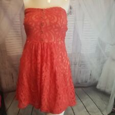 dress party cocktail strapless small S junior teen Vanity Lace Mini evening