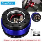 Universal Car Steering Wheel Quick Release Hub Adapter Snap Off Kit Set Blu