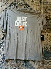 NWT Men's Gray Nike Just Do It Tee T-Shirt Size 4XL